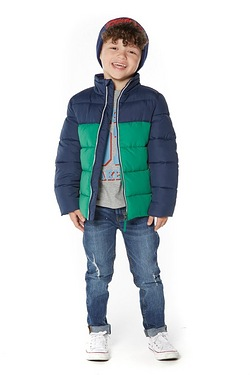 Young Boys Two Tone Padded Jacket