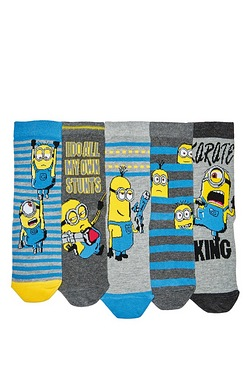 Pack Of 5 Socks - Minions