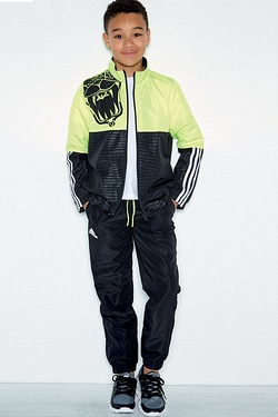 Boys adidas Tracksuit - Yellow/Black