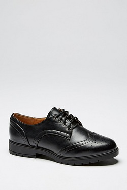 Girls Be You Lace Up Brogue