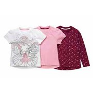 Girls Pack Of 3 Tops
