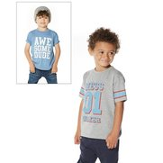 Boys Pack Of 2 Dude T-Shirts