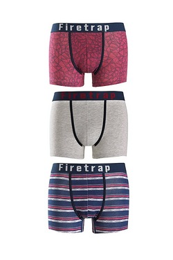 Firetrap Pack Of 3 Boxers