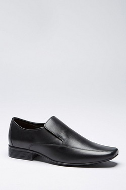 Thomas Gee Leather Slip On Shoe Black