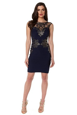 Lipsy Michelle Keegan Lace Placement Dress