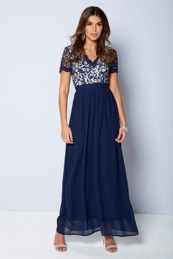 Club L Crochet V-Neck Maxi Dress
