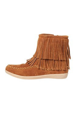 Girls Fringe Ankle Boot