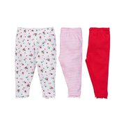 Baby Girls Pack Of 3 Leggings