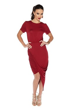 Club L Jersey Ruched Side Dress
