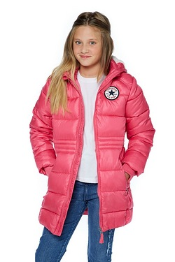Girls Converse Hooded Padded Jacket
