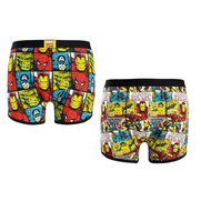 Marvel Comic Strip Pack Of 2 Boxers