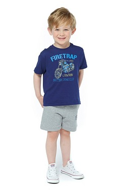 Boys Firetrap Shorts - Grey Marl
