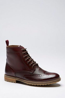 Twisted Gorilla Leather Brogue Boot