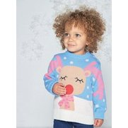 Baby Girls Reindeer Jumper