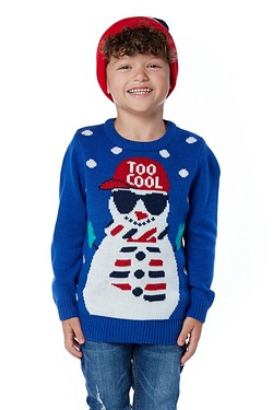 Boys Snowman Christmas Jumper