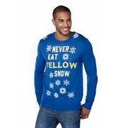 Yellow Snow Christmas Jumper