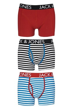 Jack & Jones Pack Of 3 Boxers - Blu...