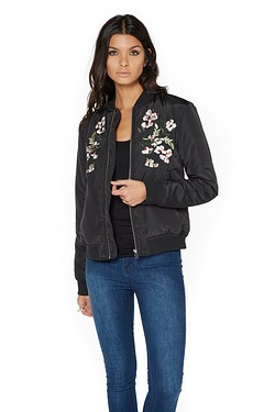 Be You Embroidered Bomber Jacket