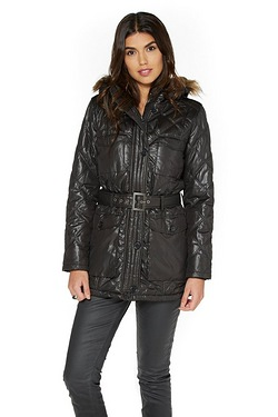 Be You Padded Belted Jacket