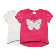 Girls Pack Of 2 Butterfly T-Shirts