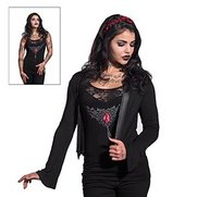 Blood Ruby 2-In-1 Lace Vest Cardigan