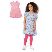 Girls Pack Of 2 Slub Dresses