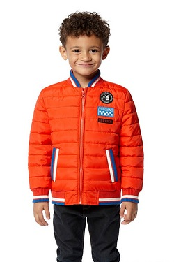 Boys Bomber Jacket With Badges