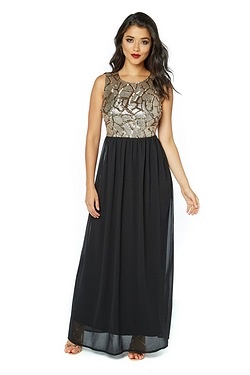 Club L Sequin Maxi Dress