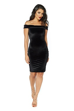 Club L Velour Bardot Dress