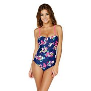 Floral Bloom Rouched Swimsuit