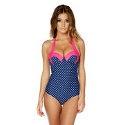 Polka Dot Halter Swimsuit