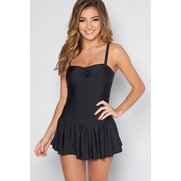 Skirted Swimsuit - Black