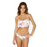 Water Floral Ruched Side Bikini Bot...