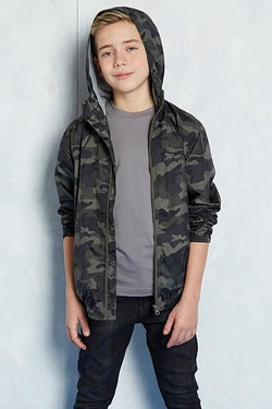 Boys Light Weight Camo Jacket