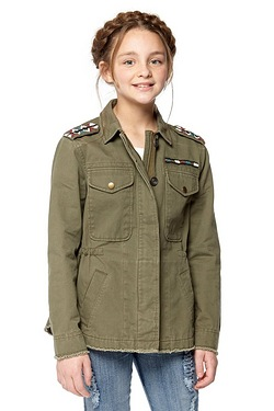Girls Military Jacket