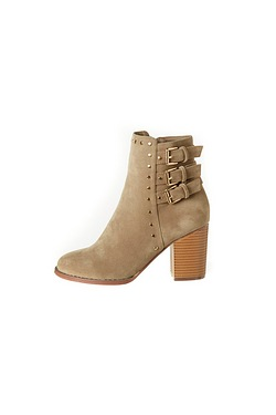 Be You 3 Buckle Studded Ankle Boot
