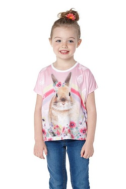 Girls Rabbit Rainbow T-shirt
