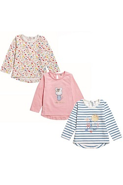 Baby Girl's Pack Of 3 Tops