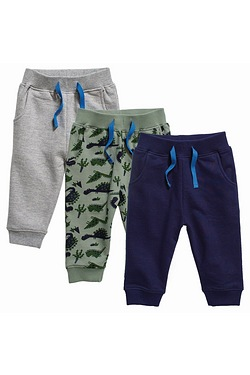 Baby Boy's Pack Of 3 Joggers
