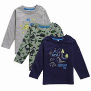 Baby Boy's Pack Of 3 Tops