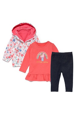 Baby Girls 3-Piece Set With Jacket