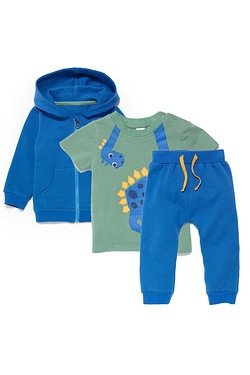 Baby Boys 3-Piece Jersey Set