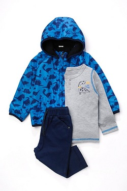 Baby Boys 3-Piece Set With Jacket