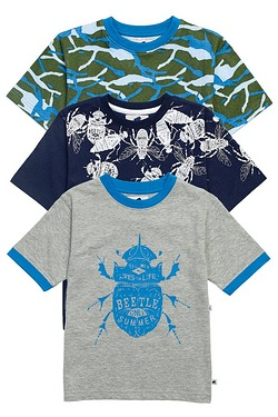 Boys Pack Of 3 T-Shirts