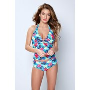 Tropical Halter Tankini