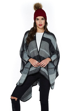 Blanket Cape - Black Stripe