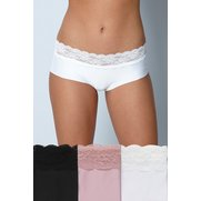 Pack Of 3 Lace Top No VPL Shorts