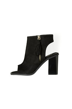 Be You Peep Toe Zip Front Ankle Boot