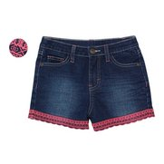 Girl's Denim Shorts With Embroidery...