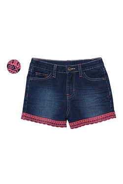 Girls Denim Shorts With Embroidery ...